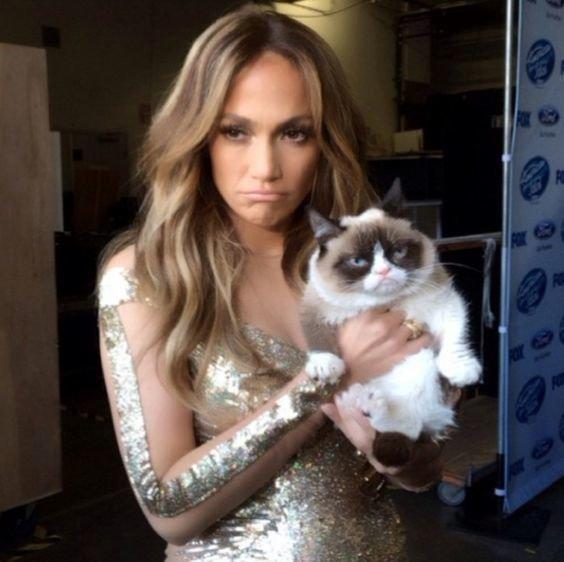 Grumpy Cat e Jeniffer Lopez