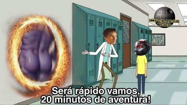 Meme homem formiga e Thanos