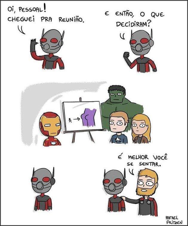 Homem Formiga e Thanos