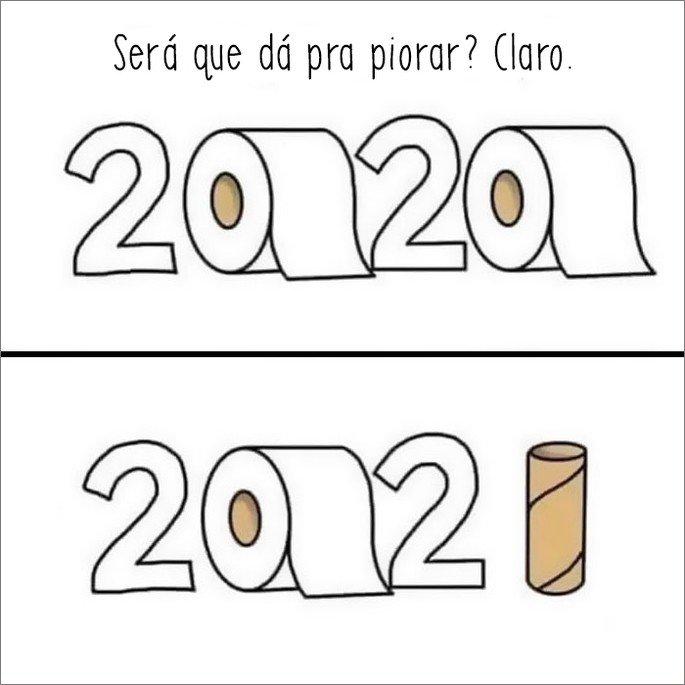 Ilustração sobre diferença de 2020 para 2021