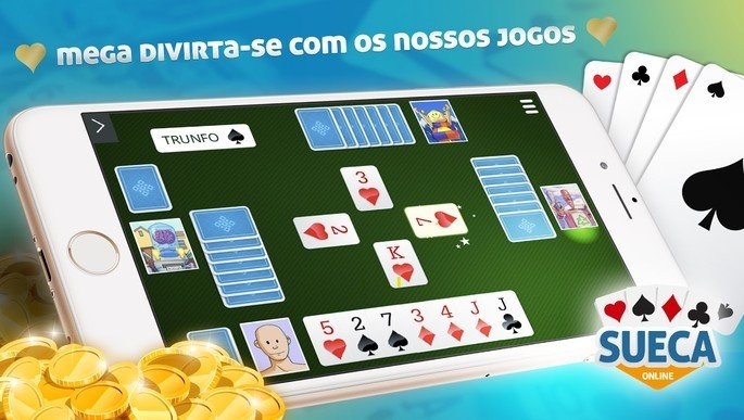 App Megajogos oferece diversos jogos de cartas online