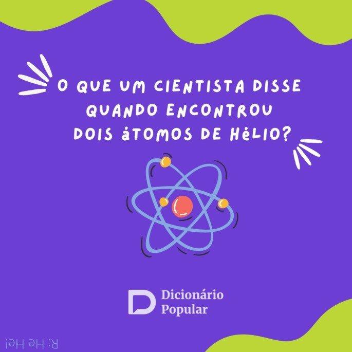 Charada do químico e o átomo de hélio