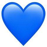 Versão do emoji de coração azul da Apple