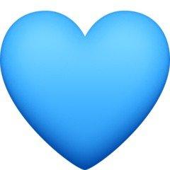 Versão do emoji de coração azul do Facebook