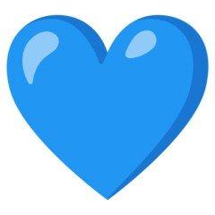 Versão do emoji de coração azul do Google