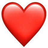 Versão do emoji de coração vermelho da Apple