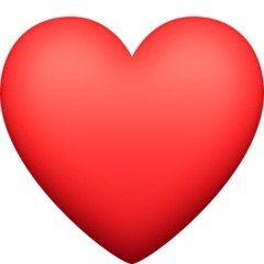 Versão do emoji de coração vermelho do Facebook
