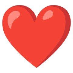 Versão do emoji de coração vermelho do Google
