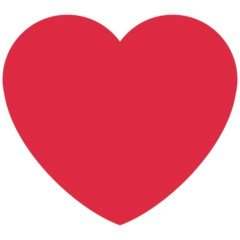 Versão do emoji de coração vermelho do Twitter