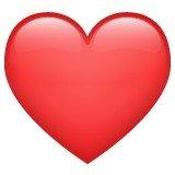 Versão do emoji de coração vermelho do  WhatsApp