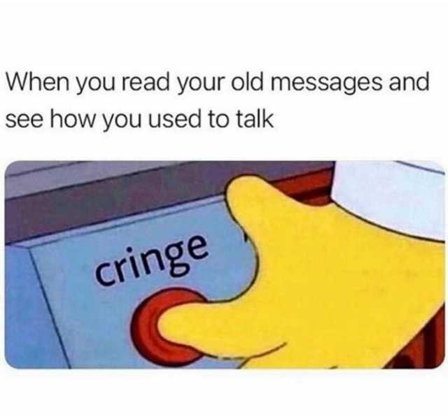 Meme cringe, com um dedo apertando um botao vermelho
