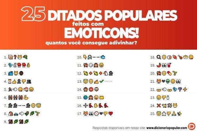 Ditados Populares em Emoticon