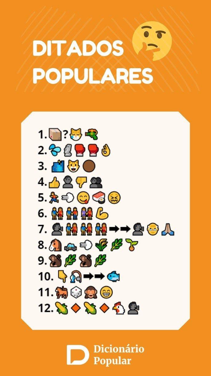 Ditados populares em emoji