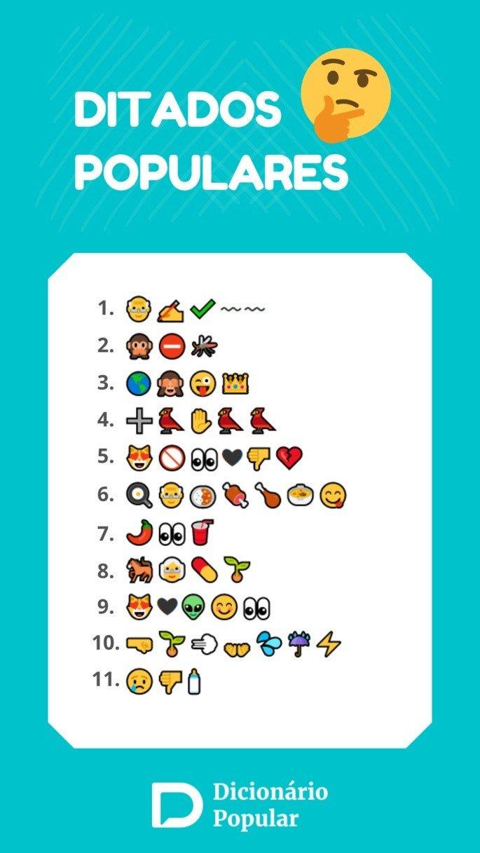 Diatdos populares com emojis parte 2