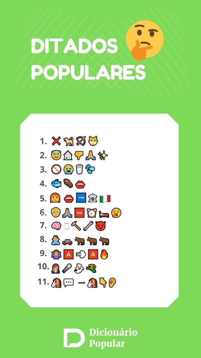 Ditados populares com emojis parte3