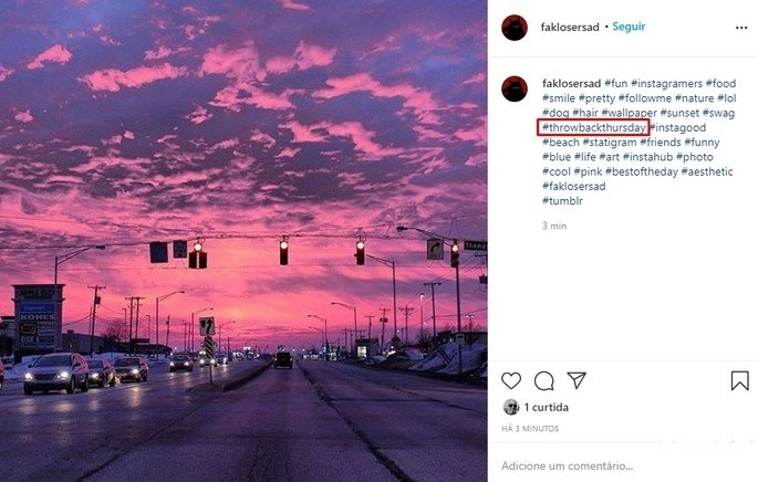 Como usar o throwback thursday nas fotos no Instagram