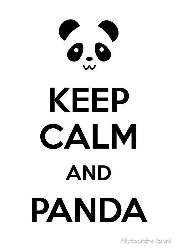 keep calm and panda