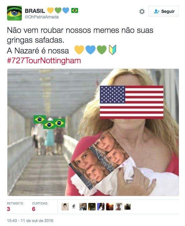 Gringos e o meme da Nazaré
