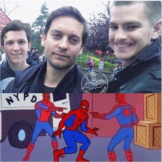 Homem aranha apontando memes