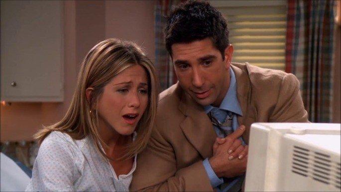 Rachel e Ross em Friends