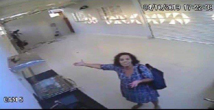 Dona Marilene que ficou presa na garagem