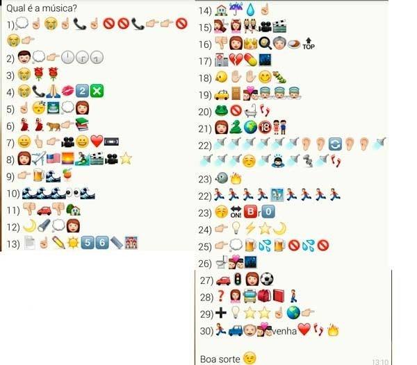 desafios com emojis para whatsapp