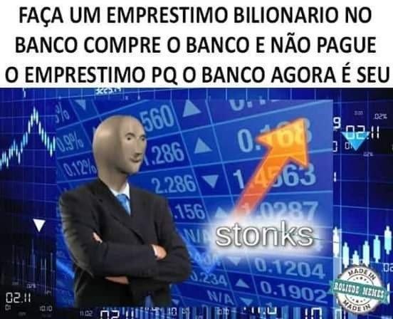 Exemplo de meme Stonks