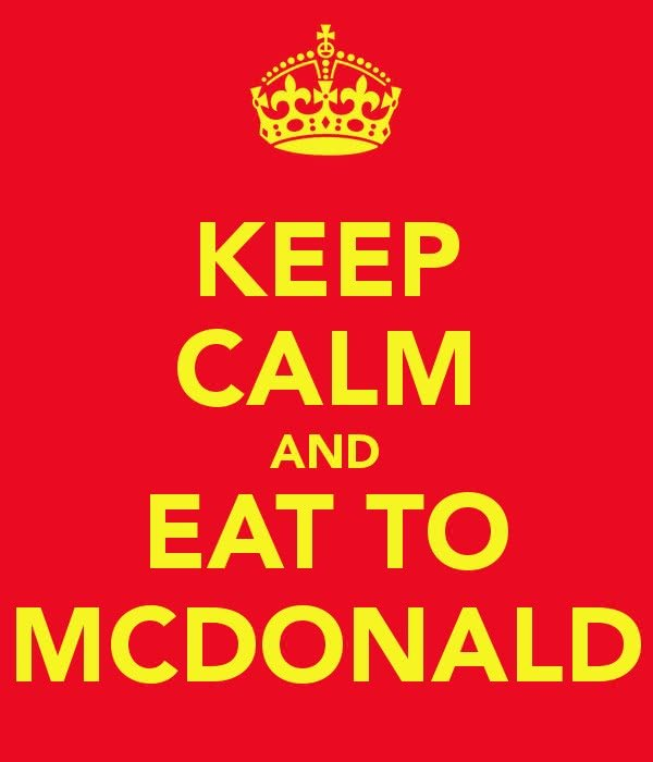 mcdonalds keep calm
