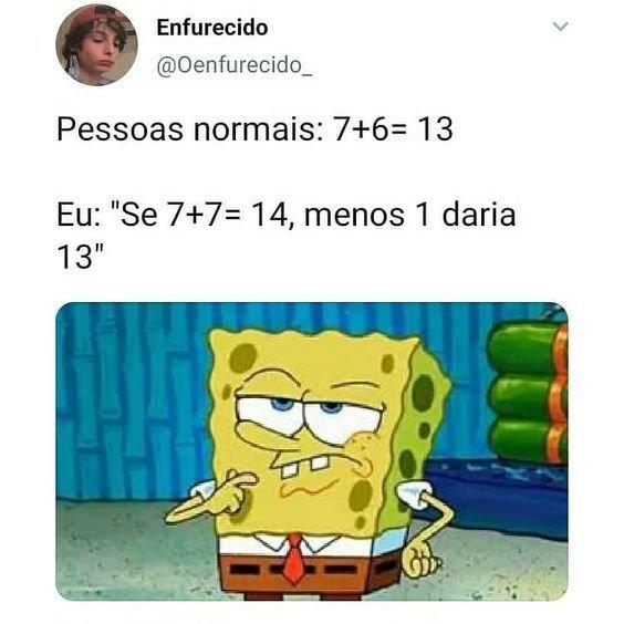 Meme Bob Esponja fazendo cálculos