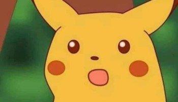 Meme do Pikachu surpreso