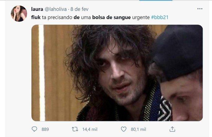 Tweets pedem que a produção do BBB liberem bolsas de sangue ao cantor Fiuk