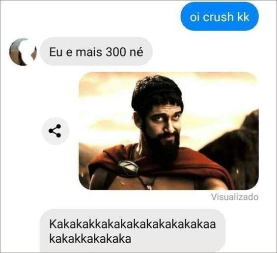 Conversa do Messenger com a imagem do meme Um pouco mais