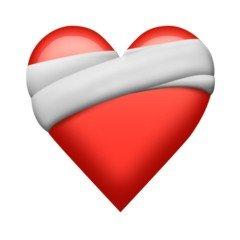 Emoji de coração remendado