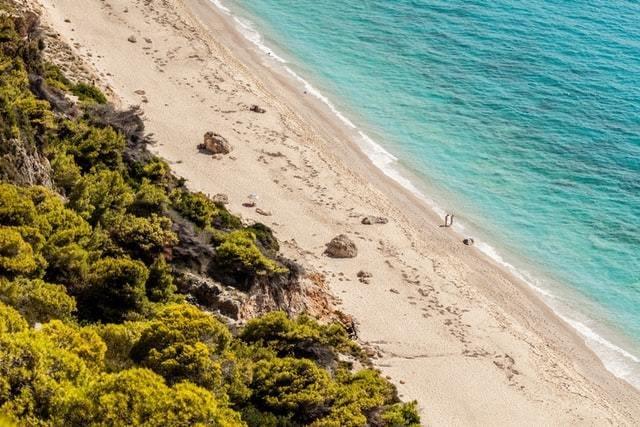 Foto da beira da praia