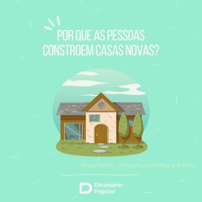 Ilustração pergunta de duplo sentido sobre casa nova.