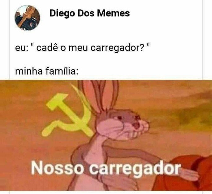 Meme do pernalonga comunista em um post do Twitter