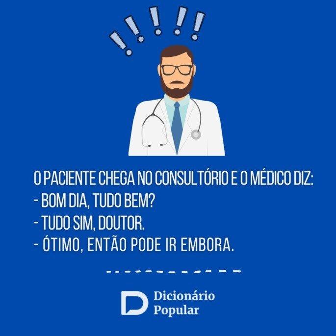 Piada idiota de médico