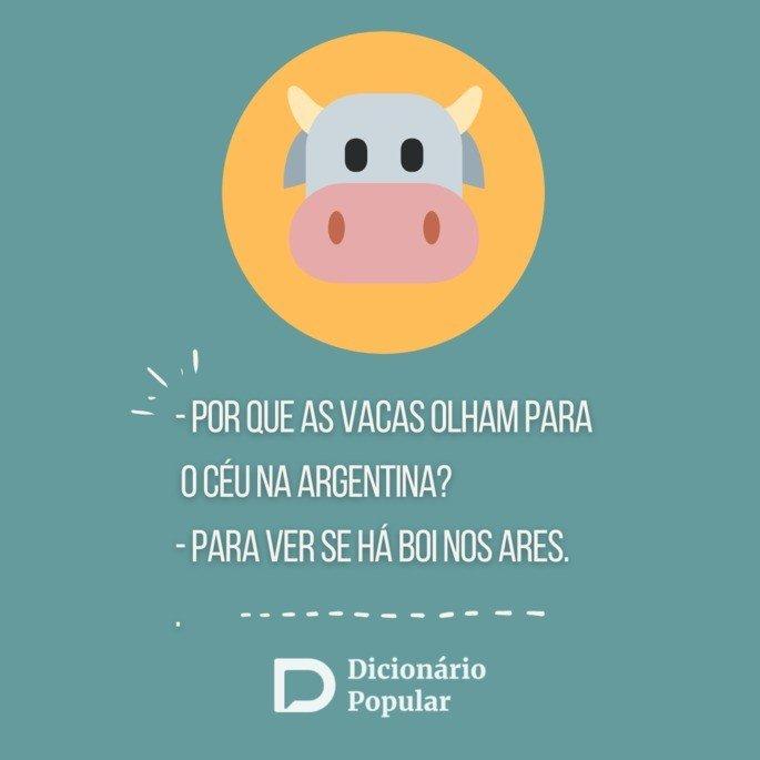 Piada idiota sobre vacas argentinas