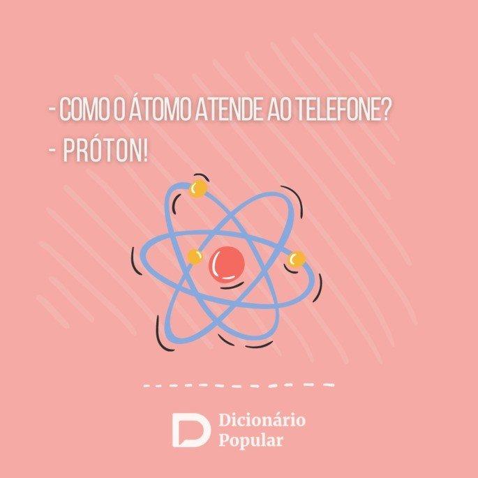 Piada idiota de como o átomo atende ao telefone