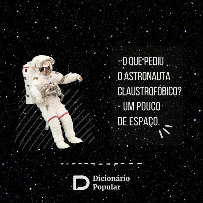 Piada sem graça sobre astronauta claustrofóbico