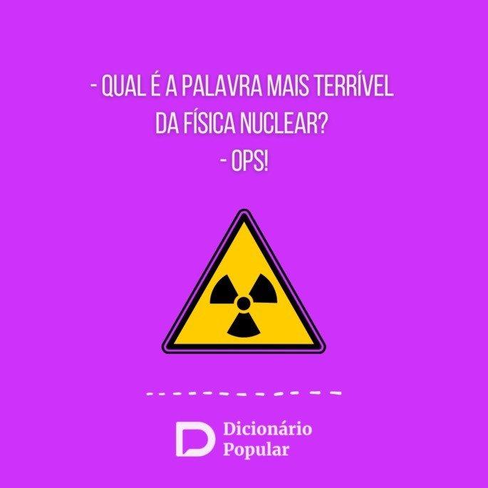 Piada sem graça sobre Física nuclear