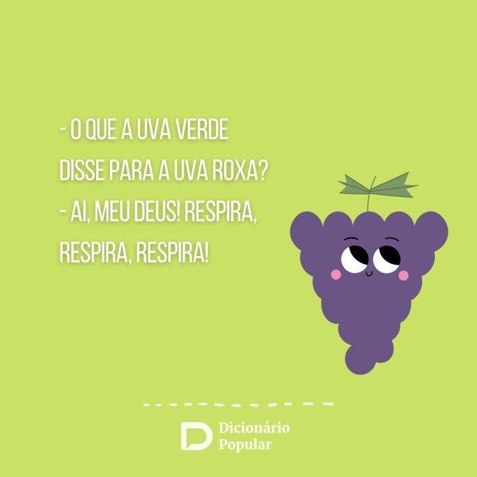 Piada sem graça sobre uva