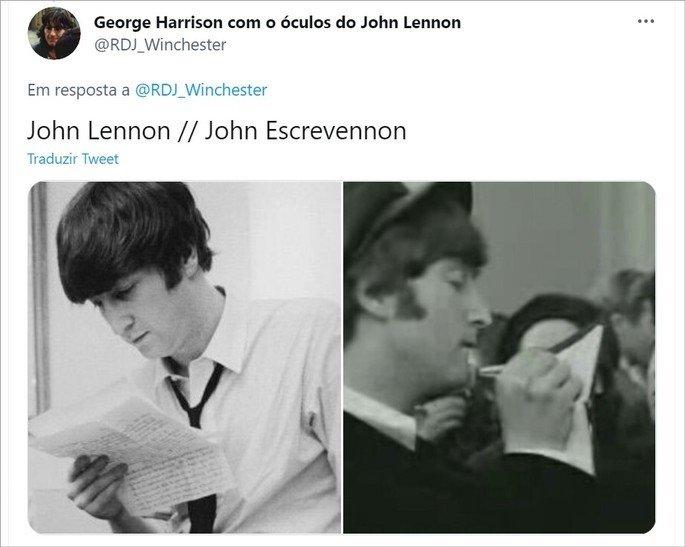 Piada idiota sobre John Lennon e John Escrevendon