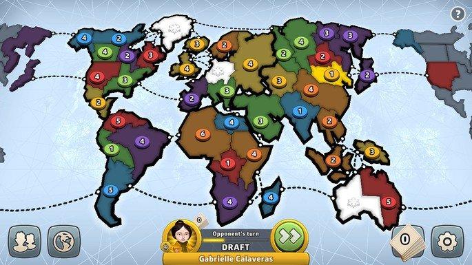 Imagem de divulgação da versão online do jogo de tabuleiro Risk