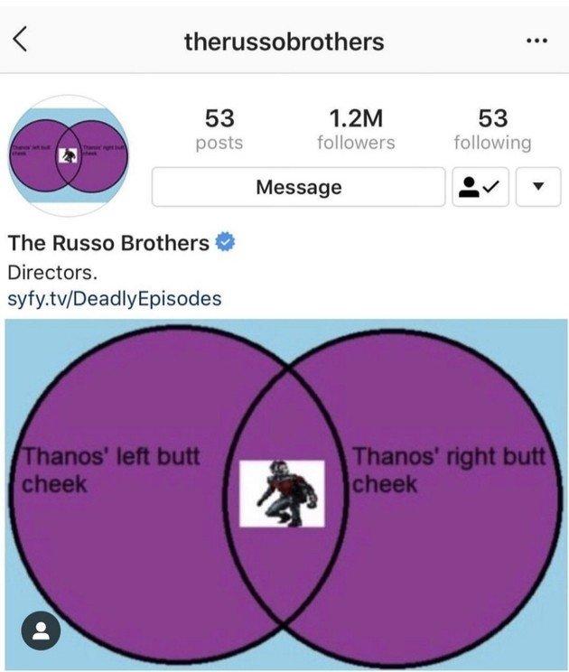 Irmãos Russo Thanos e Homem-Formiga