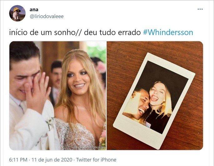 tweet meme Inicio de um sonho sobre casamento de Whinderson Nunes e Luisa Sonza