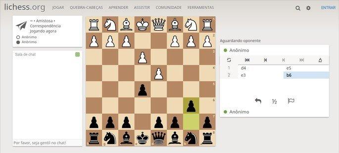 Lichess traz jogo de xadrez online para jogar com amigos